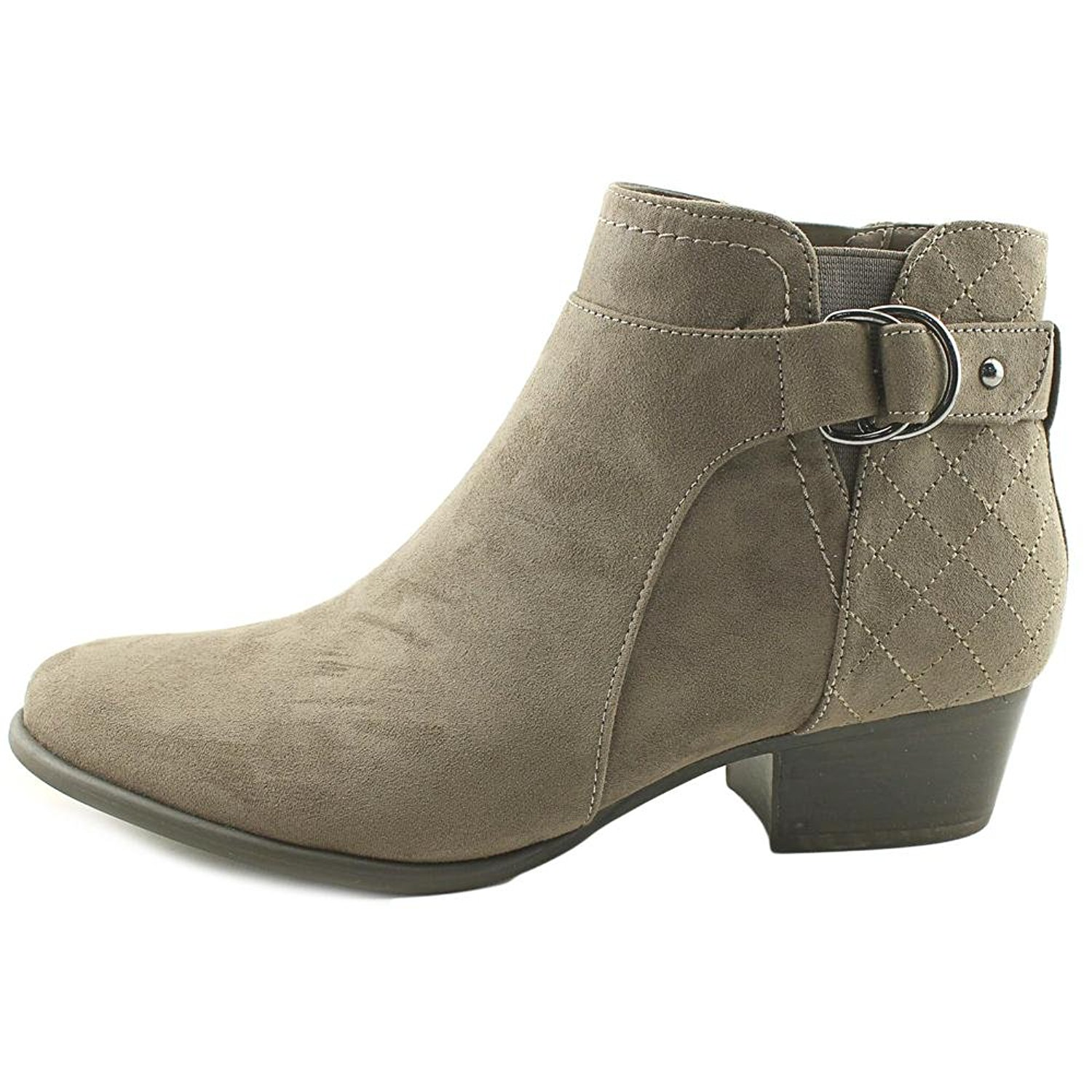 Unisa Womens Piera Suede Boots, Closed Toe Ankle Fashion Boots, Suede taupe fabric, Size 8.0 361777
