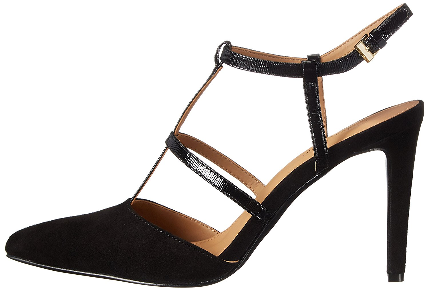 Calvin Klein Womens Coreene Pointed Toe Ankle Strap Classic, Black, Size 6.0