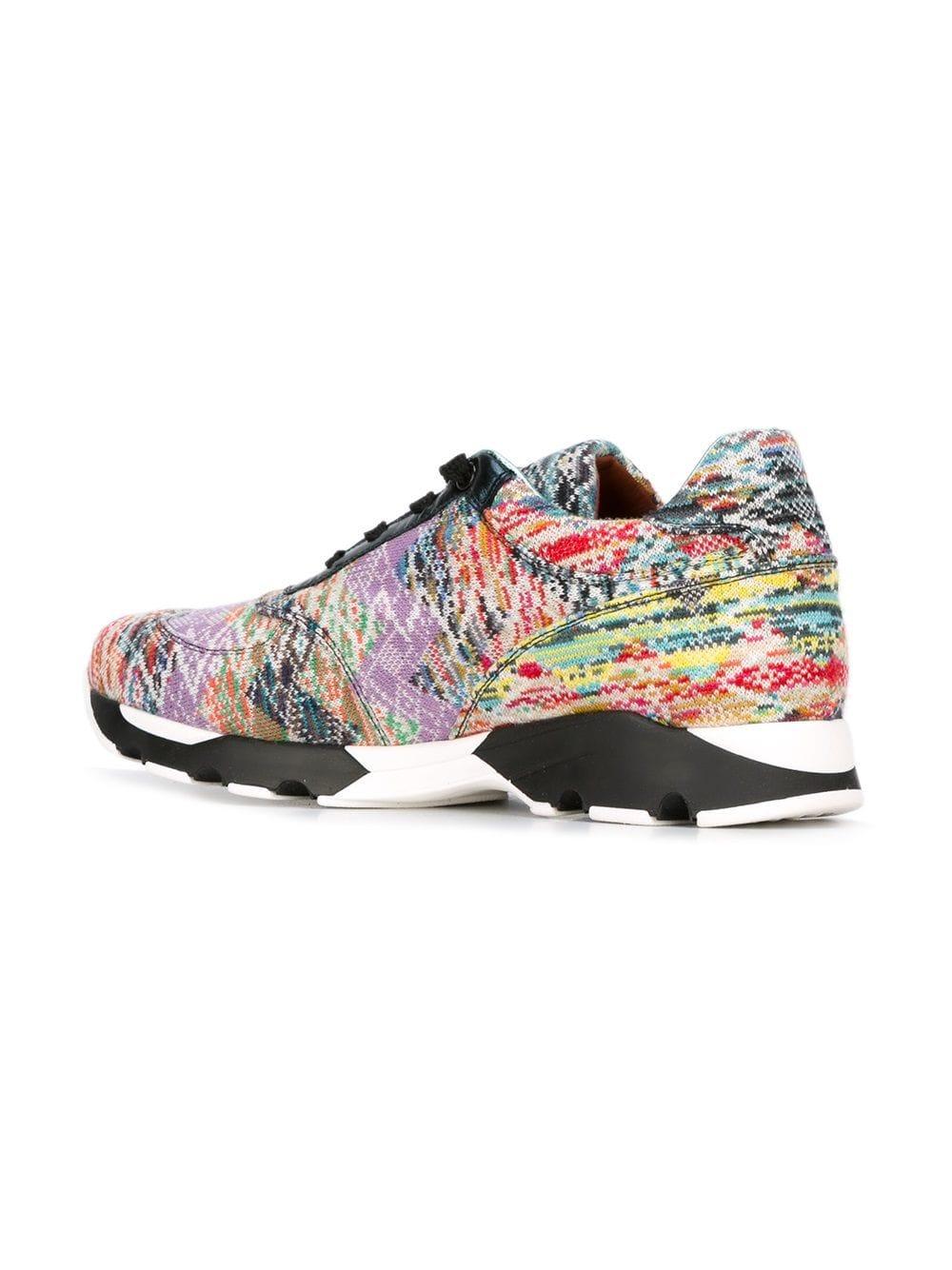 cordones para Jacquard mujer de Missoni de deporte con Zapatillas y bajos moda de de Sq71X