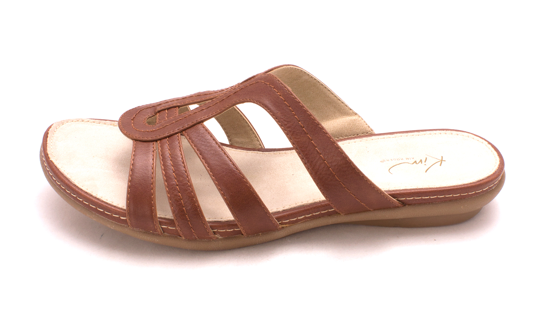 Kim Rogers Womens AMAREY Open Toe Casual Slide Sandals Brush Brown Size 100