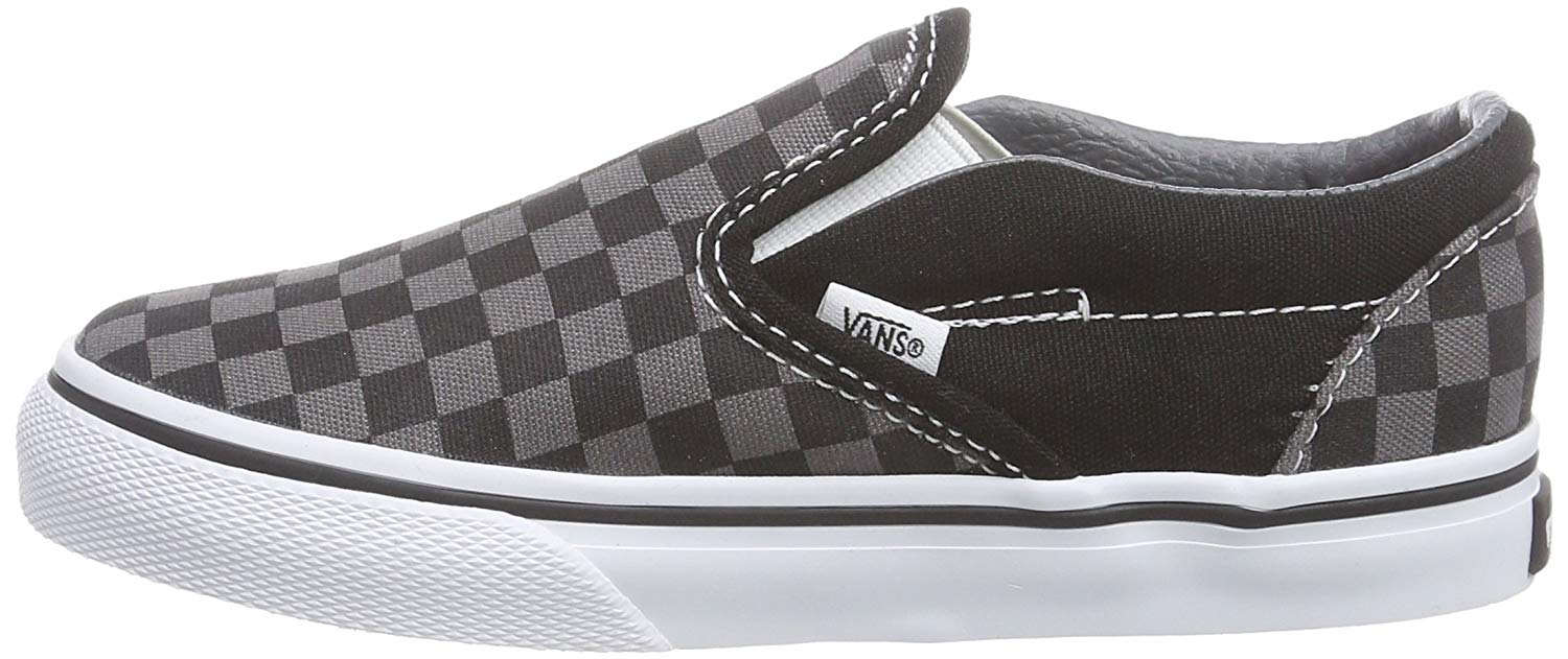 bec31b8ba559f Details about Vans Kids' Classic Slip-on Core - K, Check Black/Pewter, Size  Toddler 10.0