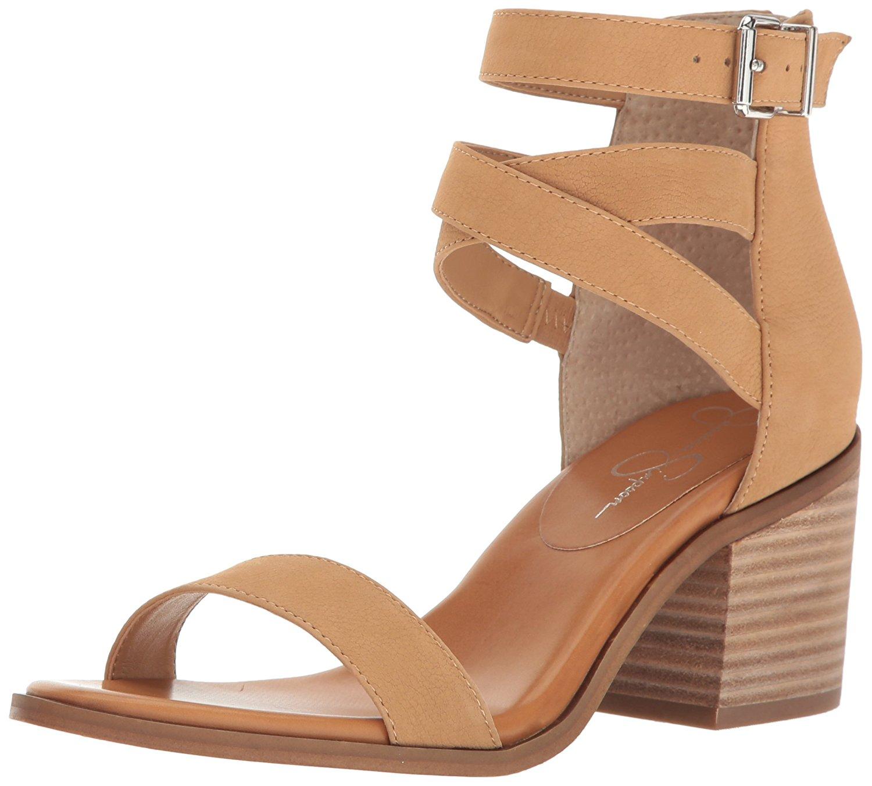 85c1c82ba9f Jessica Simpson Womens Rayvena Leather Open Toe Casual