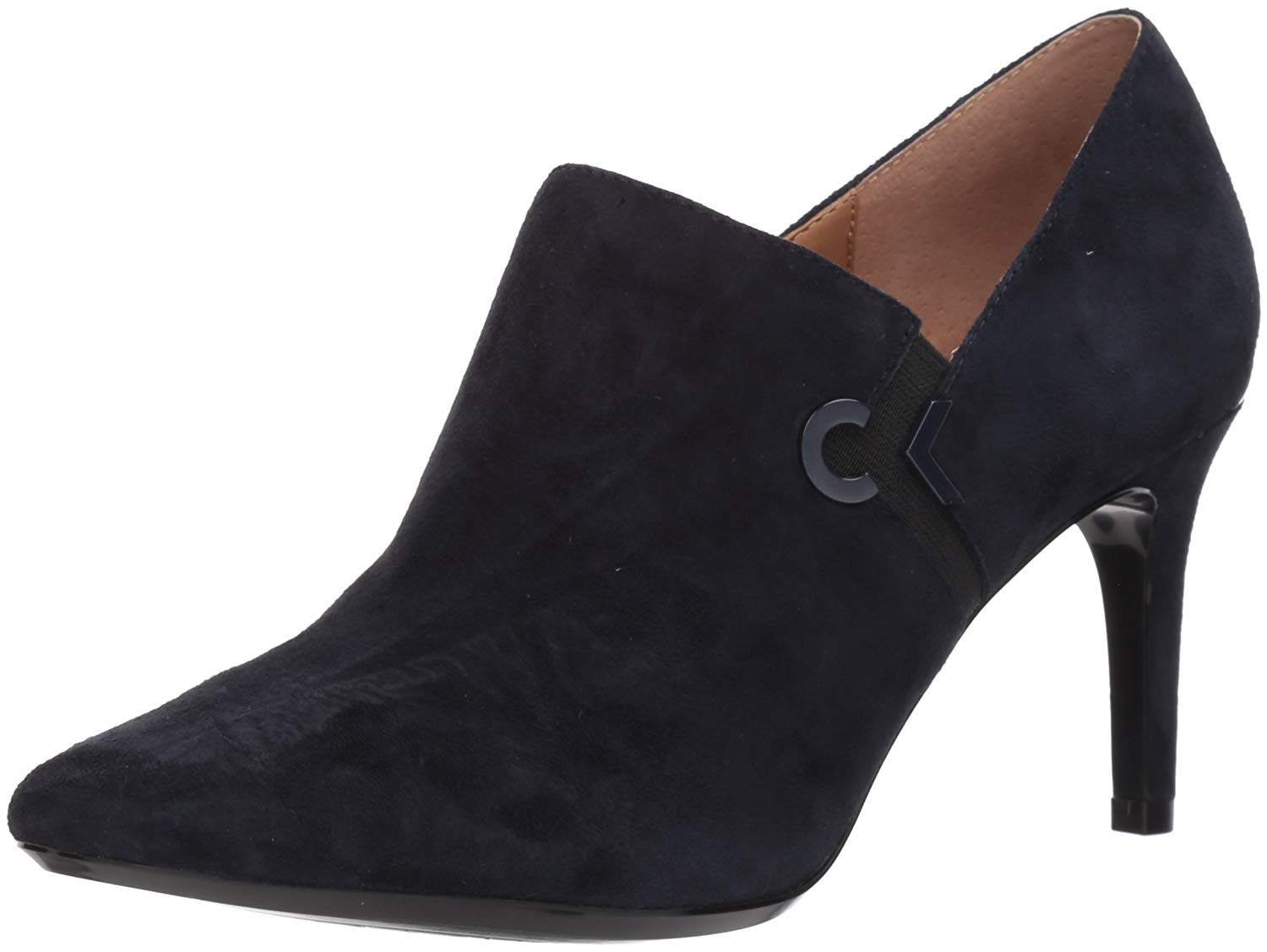 41f51865ee3 Calvin Klein Womens Joanie Leather Pointed Toe Ankle Fashion Boots ...
