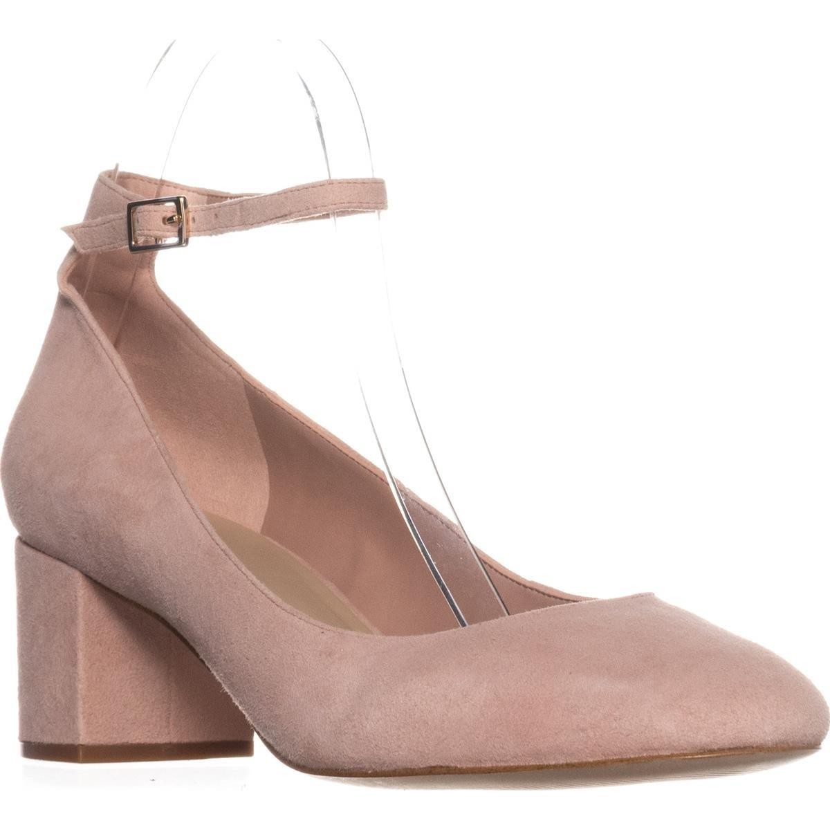 Aldo Womens Clarisse Suede Closed Toe Ankle Strap Classic Pumps Pink Size 8.5