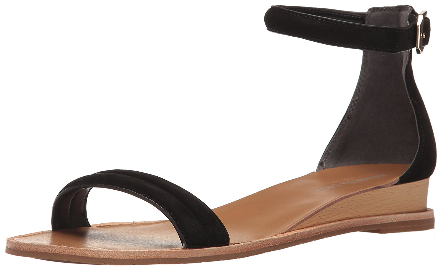Kenneth Cole New York Womens Jenna Leather Open Toe Casual Black Size 65