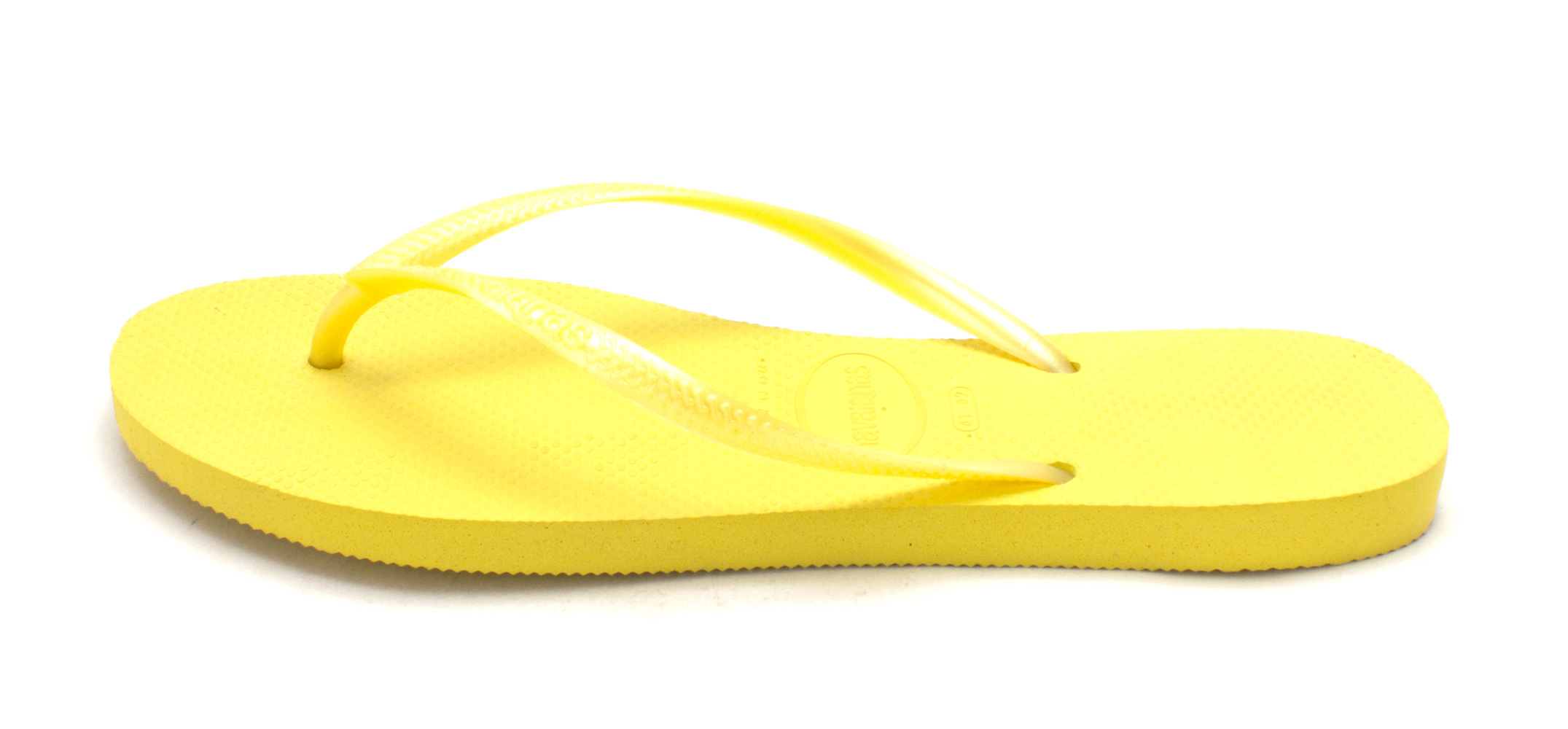 Havaianas Womens Slim Rubber Open Toe Beach Revival Yellow Size 110