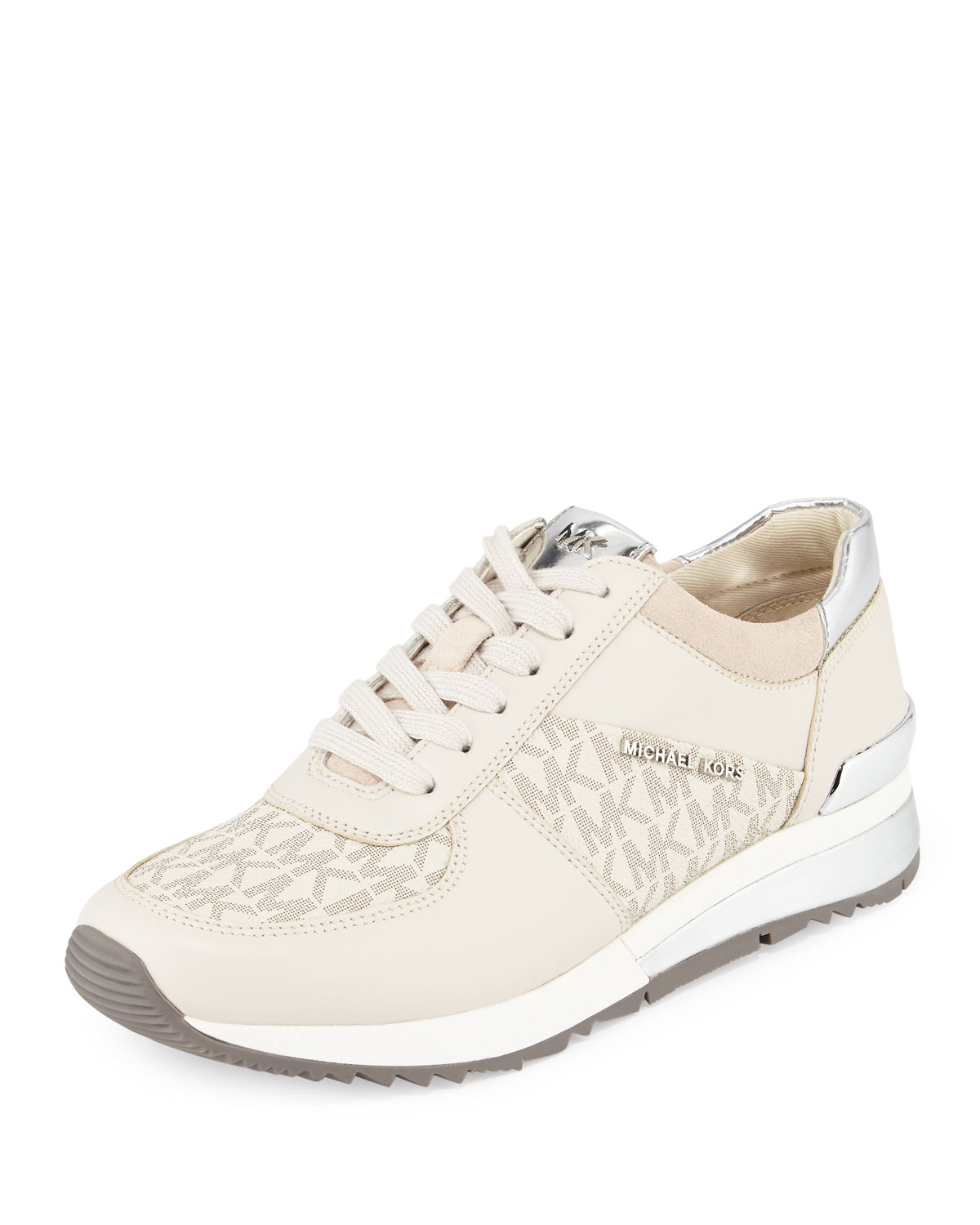 e09177a081ae MICHAEL Michael Kors Womens Plate Wrap Leather Low Top Lace