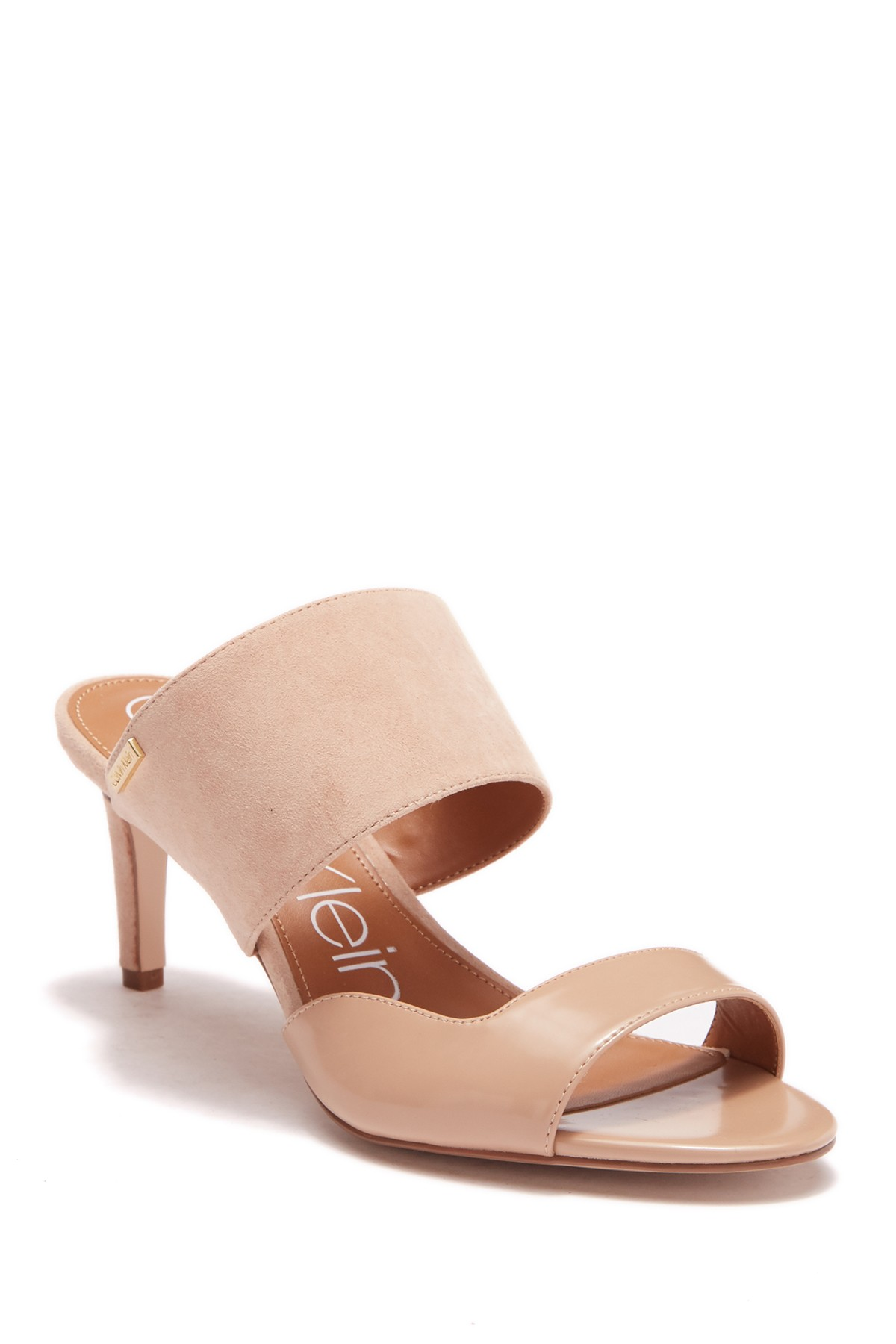 2faa3f26dcce Calvin Klein Womens Clementine Leather Open Toe Casual