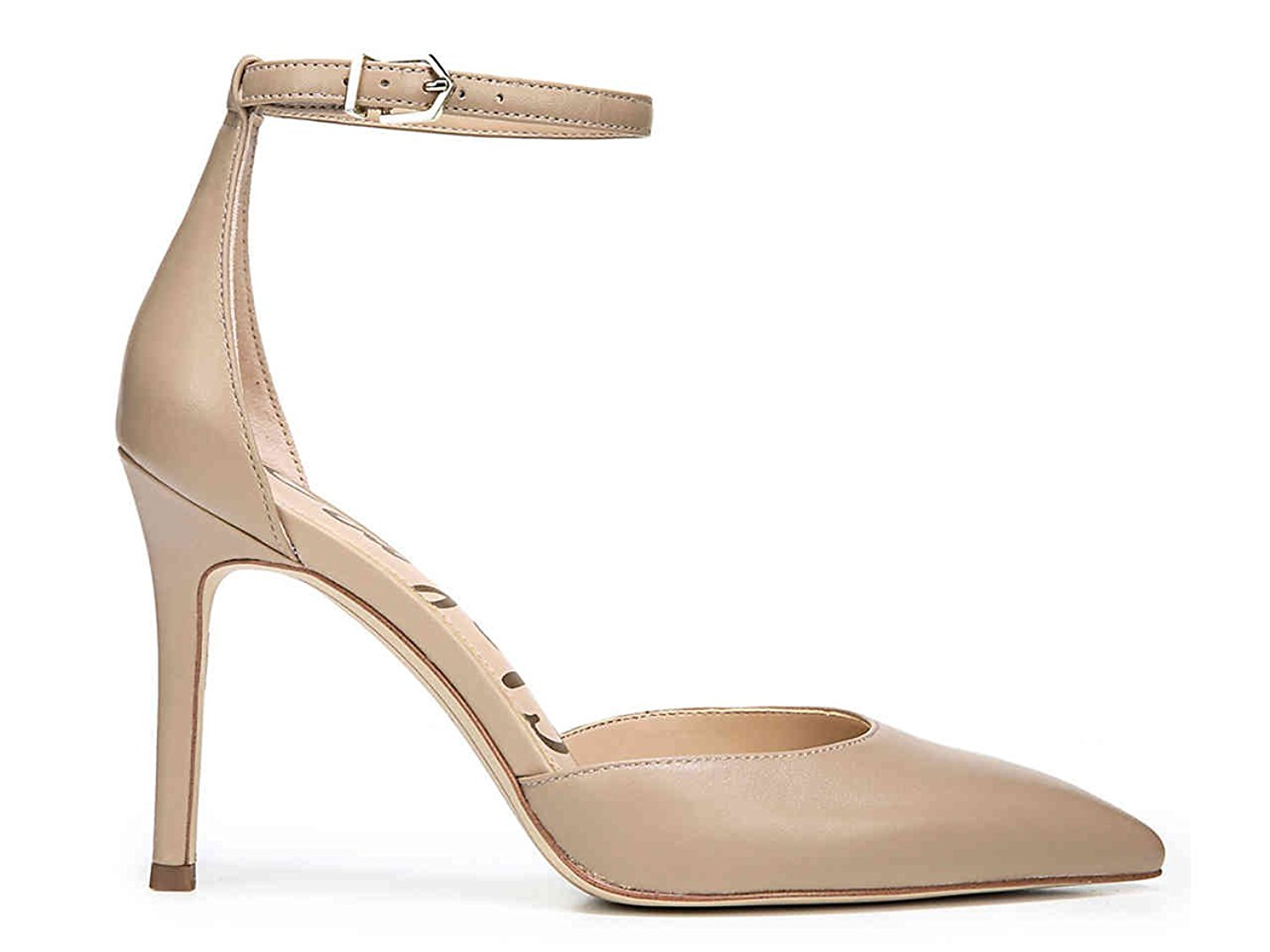 Sam Edelman Womens Harlow Pointed Toe Ankle Strap Dorsay Pumps Nude Size 9.0