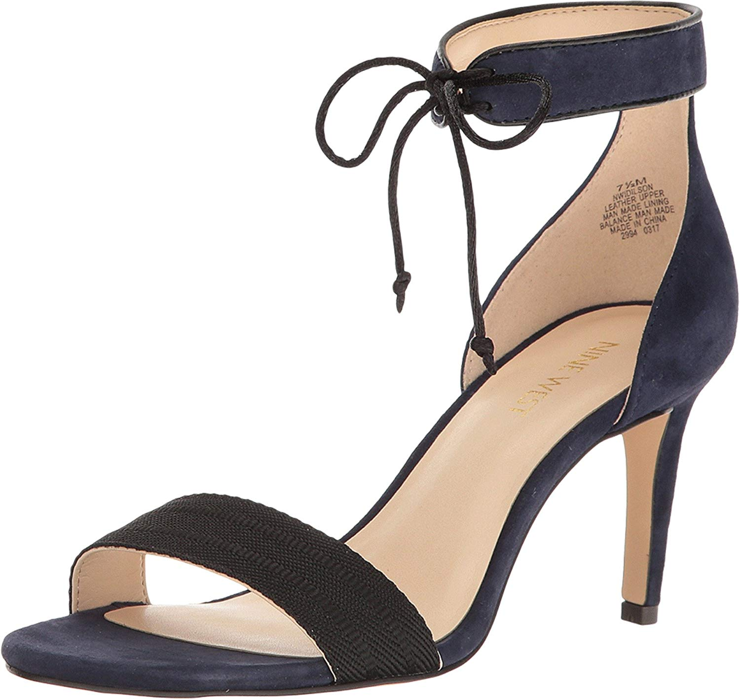 02a1887fa59 Nine West Womens Idilson Open Toe Ankle Strap Classic Pumps
