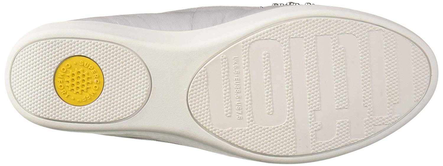 460d5108509 FitFlop Women s Audrey Pearl Stud Smoking Slippers Loafer Flat ...
