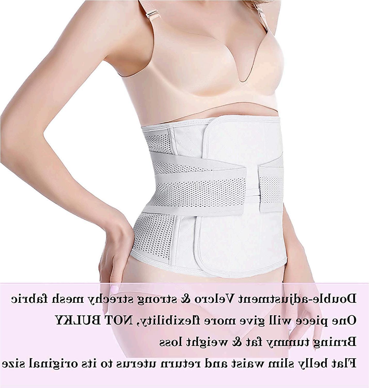Abdominal Binder Postpartum Belly Wrap: C-Section Postpartum Belly Wrap Plus Size, White, Size For