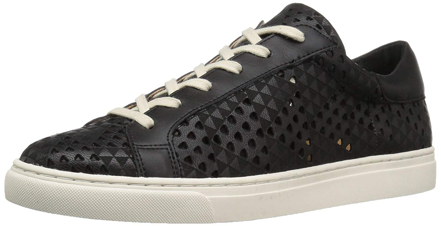 Size 5.0 Black Obedient Lucky Brand Womens Lotuss3 Leather Low Top Lace Up Fashion
