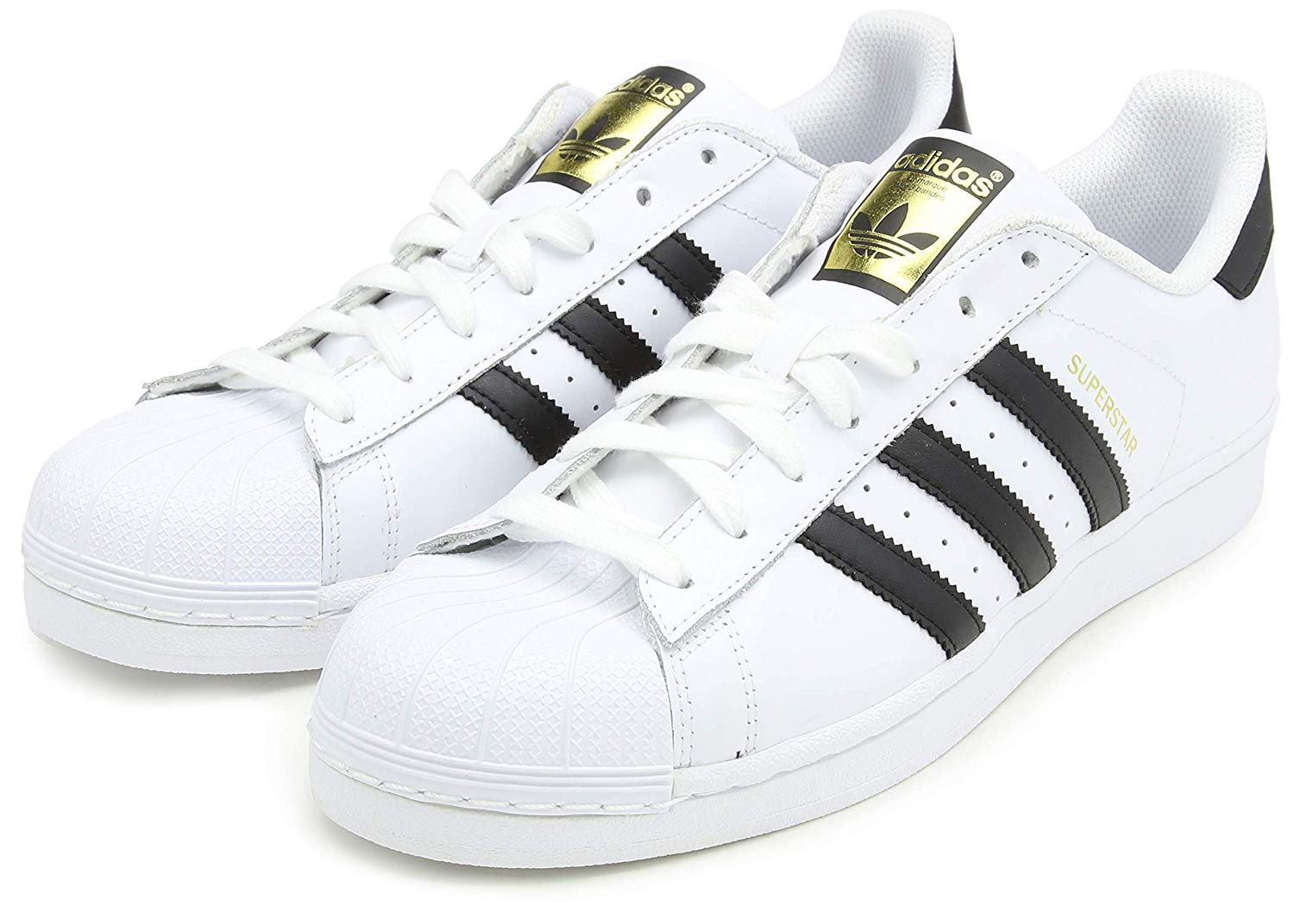 adidas superstar sneaker low white core black