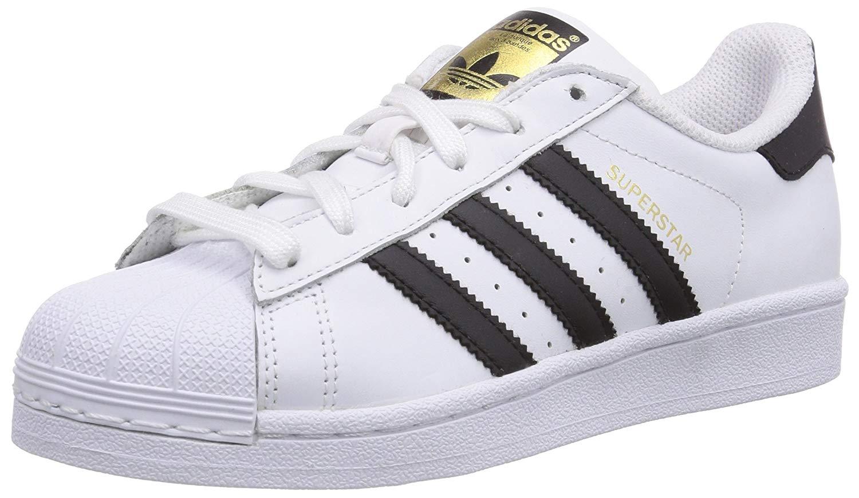 Adidas men Superstar Leder Fashion Sneakers Weiss Groesse 10 US  44 EU