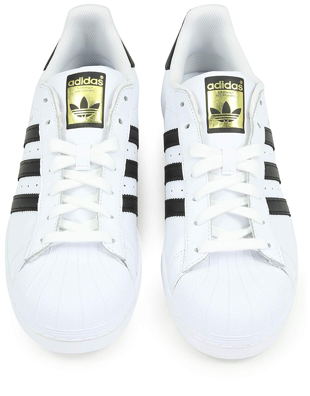 Up Adidas Blackwhite Whitecore Mens Size 10 Leather Lace Top 0 Superstar Low DIHW2Y9E