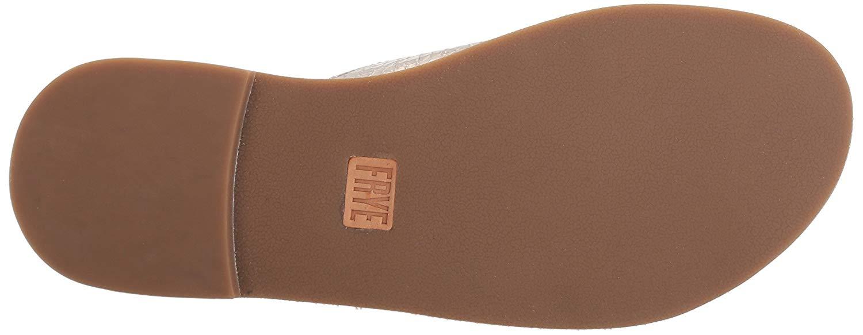 Frye Women S Ally Criss Cross Slide Sandal Silver Size 5