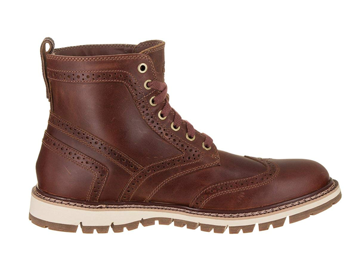 Dettagli su Timberland Mens Britton Hill Wing Tip Boot, Brown, Size 7.0 XTIb