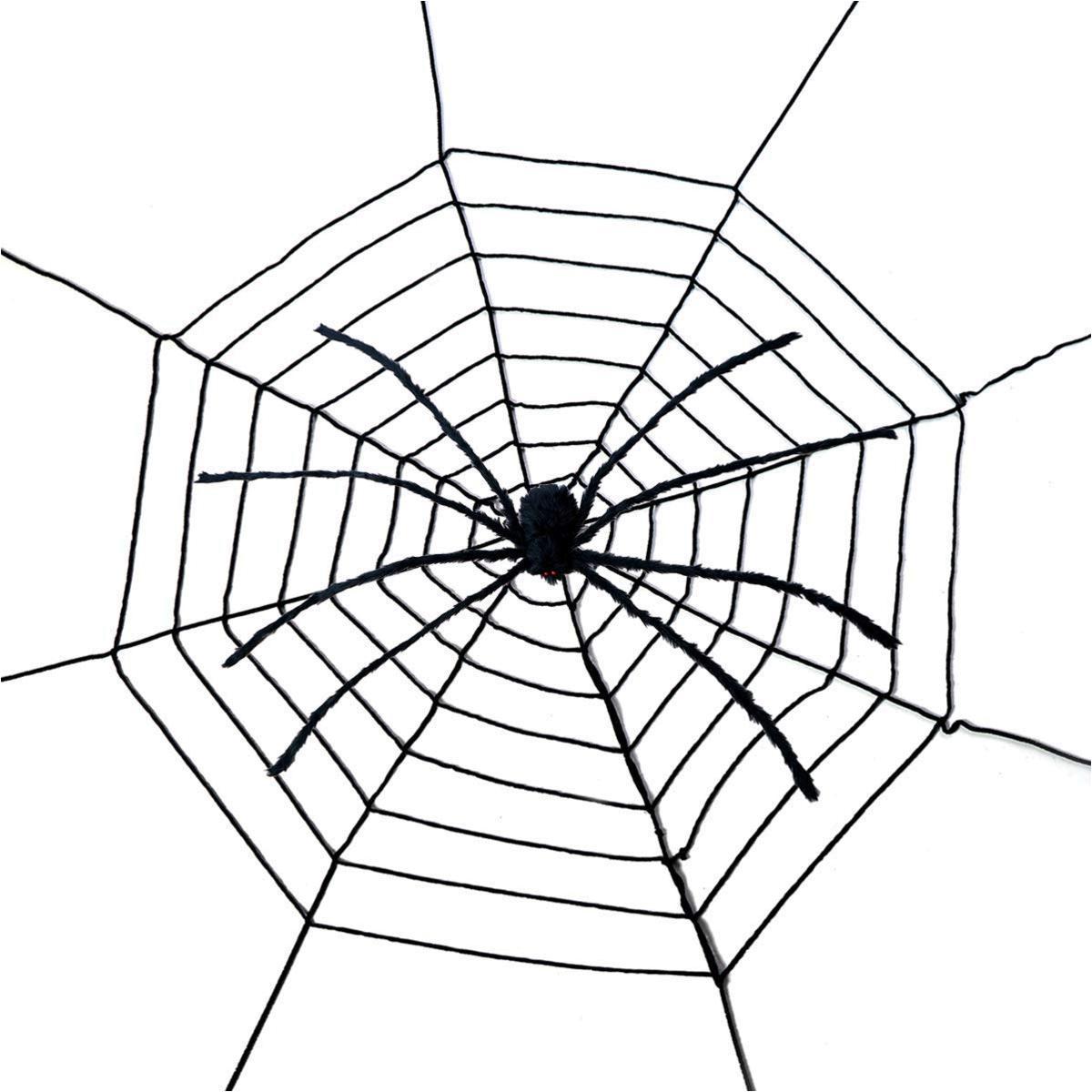 Giant Spider Web- Halloween Decor Decorations, Black ...