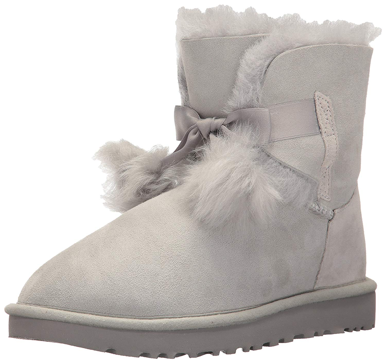 3a3ae1882bf Details about UGG Women's Gita Pom-Pom Boot, Grey Violet, Size 9.0 8n24
