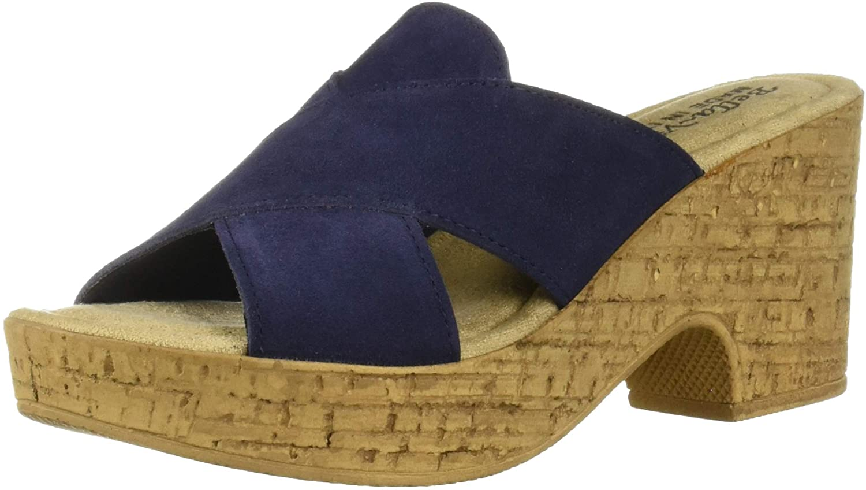 Bella Vita Women's Lor-Italy Slide Sandal Shoe, Navy ...
