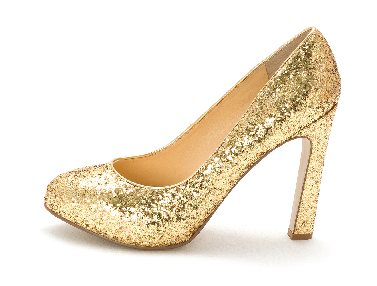 GUESS Womens Shaney2 Closed Toe Classic Pumps Gold Glitter Size 8.5