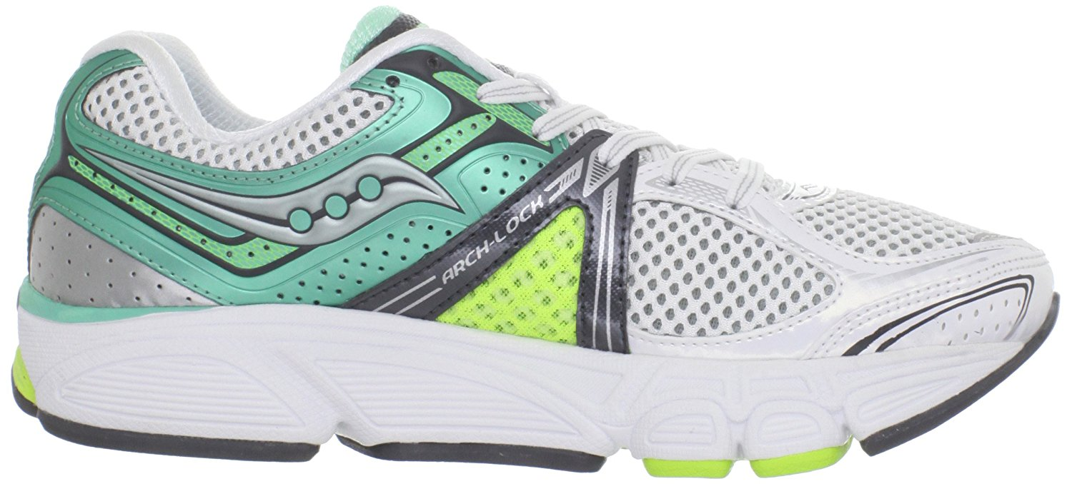 Saucony Women's Progrid Echelon 3 Running Shoe White/Green/Citron Size 5.0