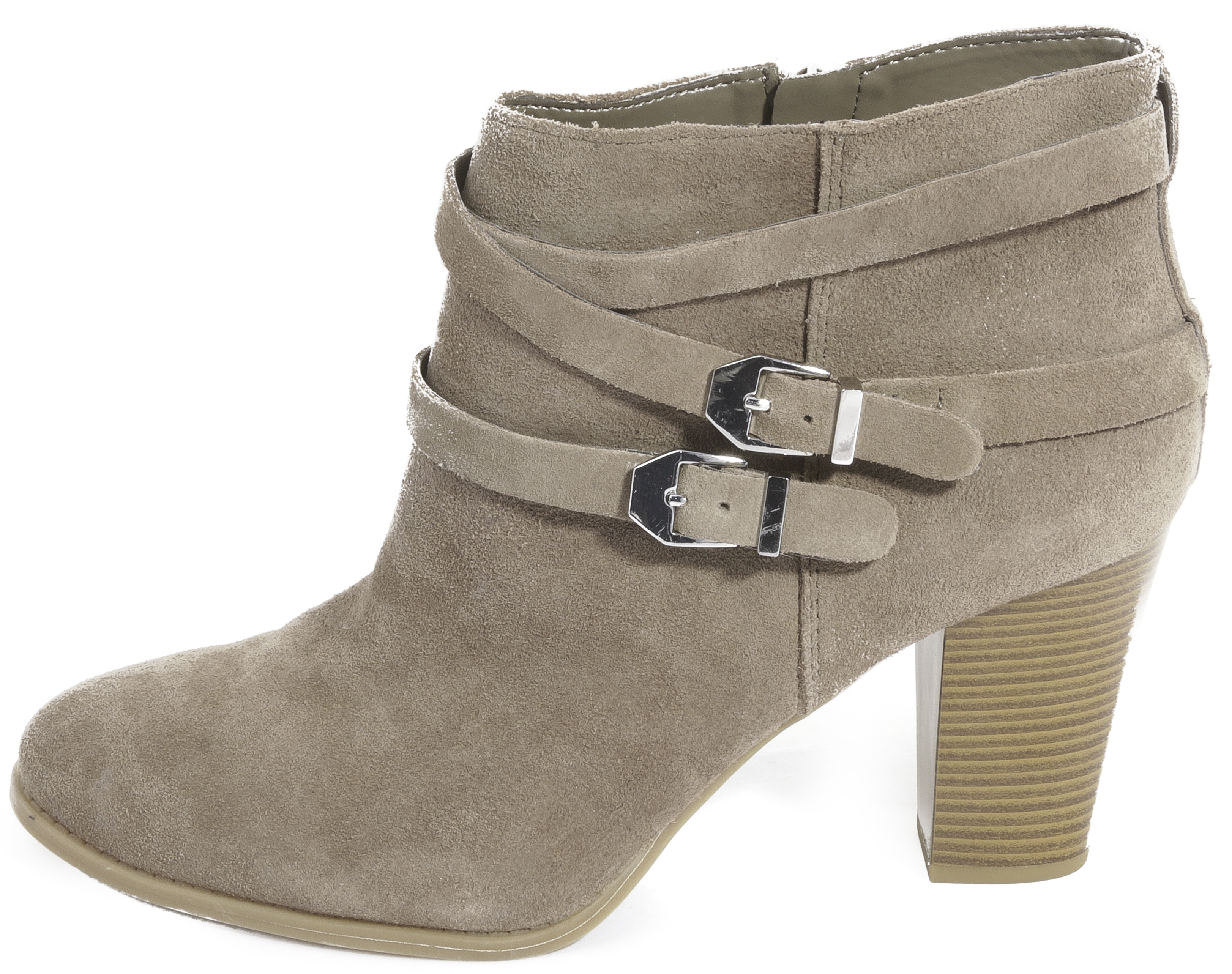 INC International Concepts Womens JAYDIE Suede Round Toe Warm Taupe Size 8.5 M