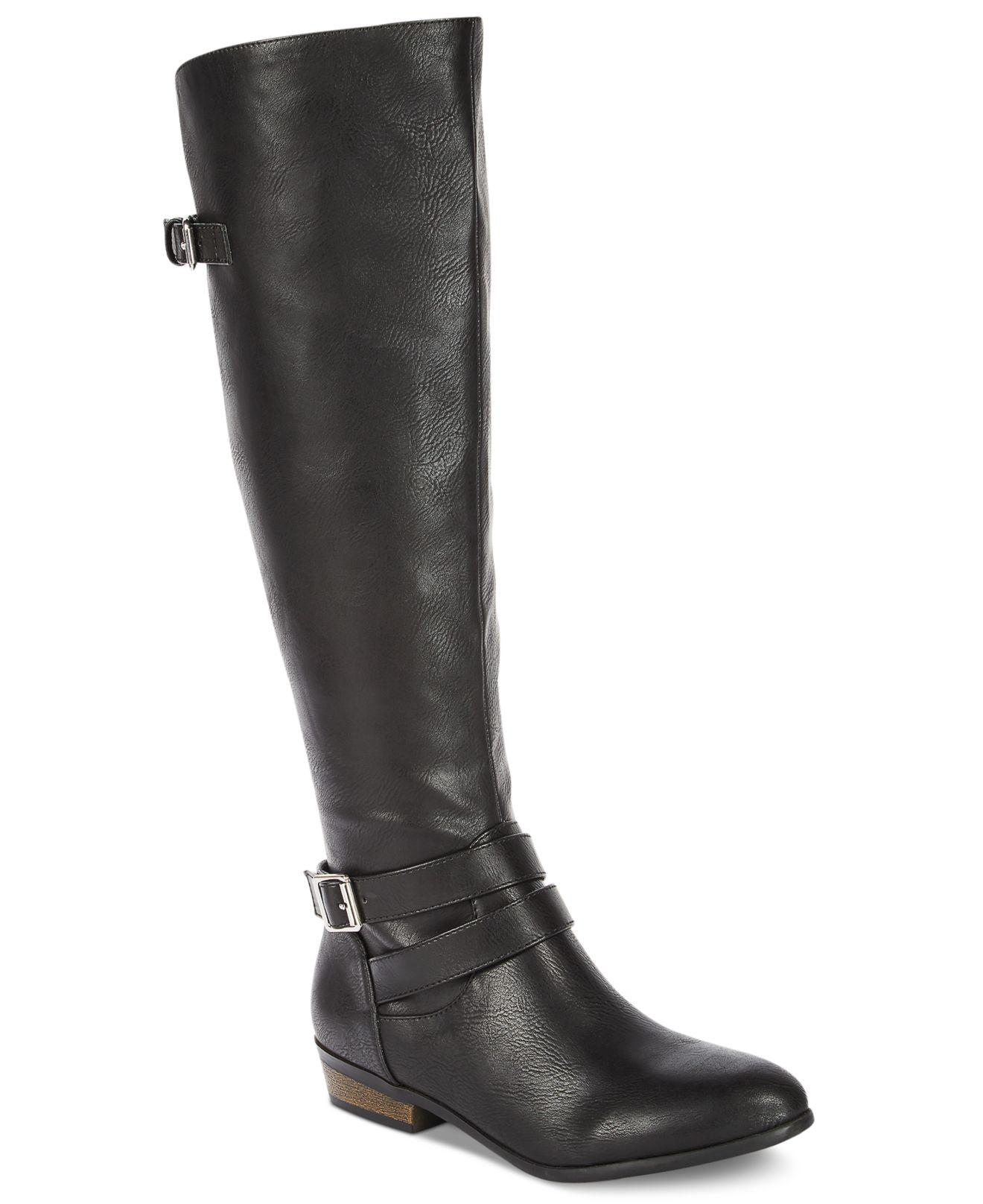 Material Girl Frauen Weite Wadenoeffnung Fashion Pumps rund Fashion Wadenoeffnung Stiefel Schwarz Groe 057cab
