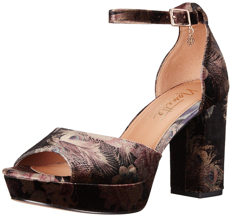 Nanette Lepore Womens ViolaN Fabric Open Toe Special BlackMulti Size 90