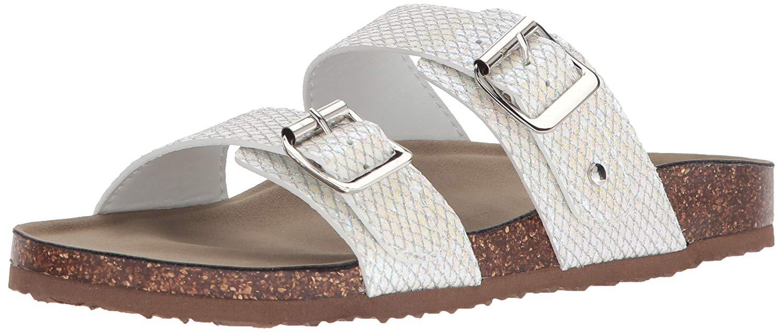 b47260c860f Madden Girl Womens Brando Fabric Open Toe Casual Slide Sandals