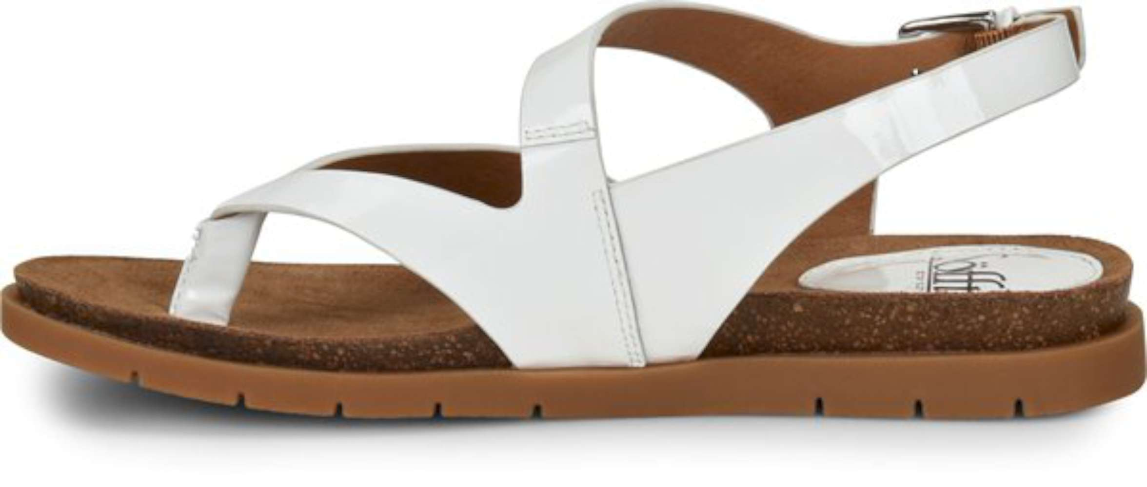 32b8964806 Sofft Womens Rory Leather Open Toe Casual Slingback Sandals, White, Size 6.0