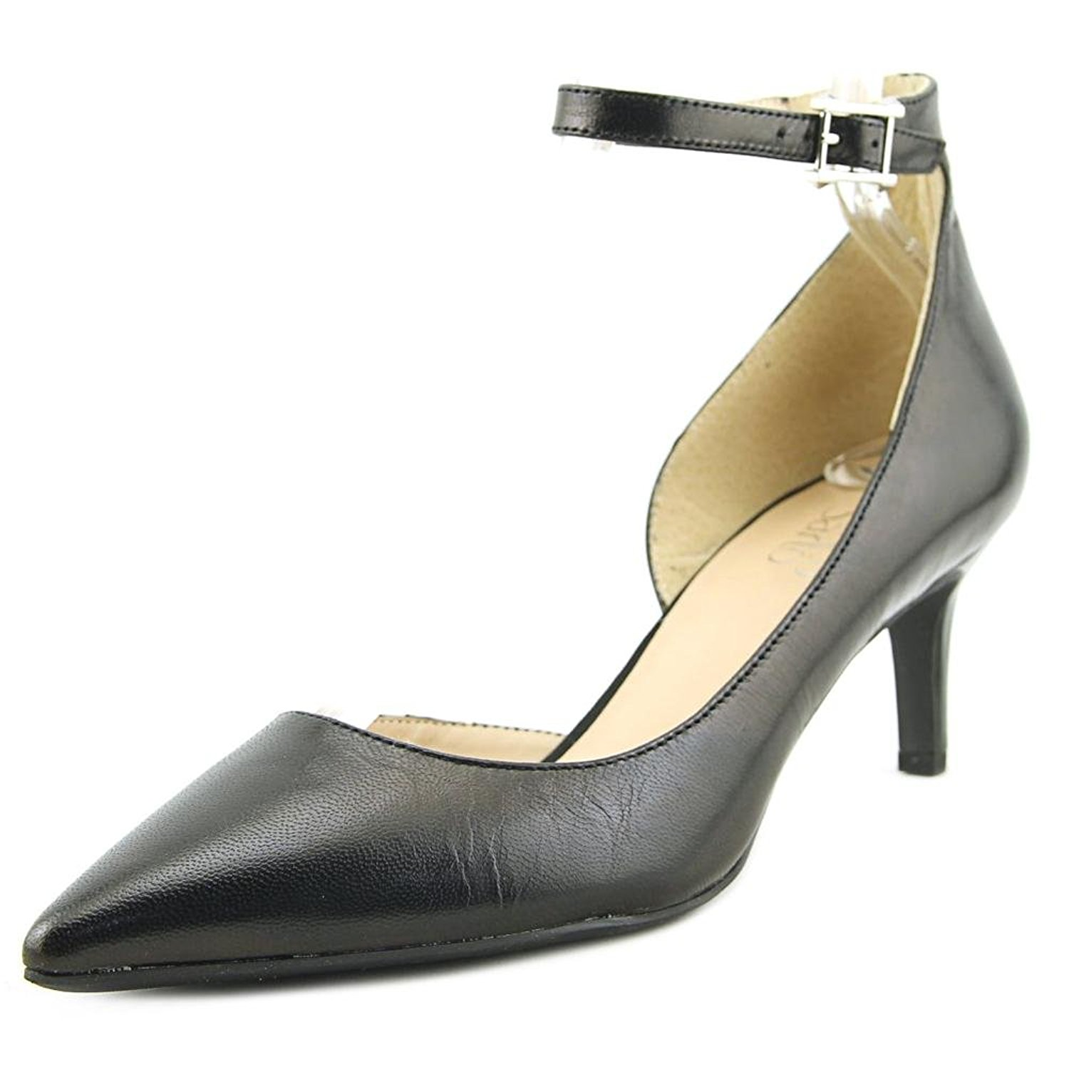 Franco Sarto Womens Dandy Leather Pointed Toe Ankle Wrap Black LE Size 8.0 DFl
