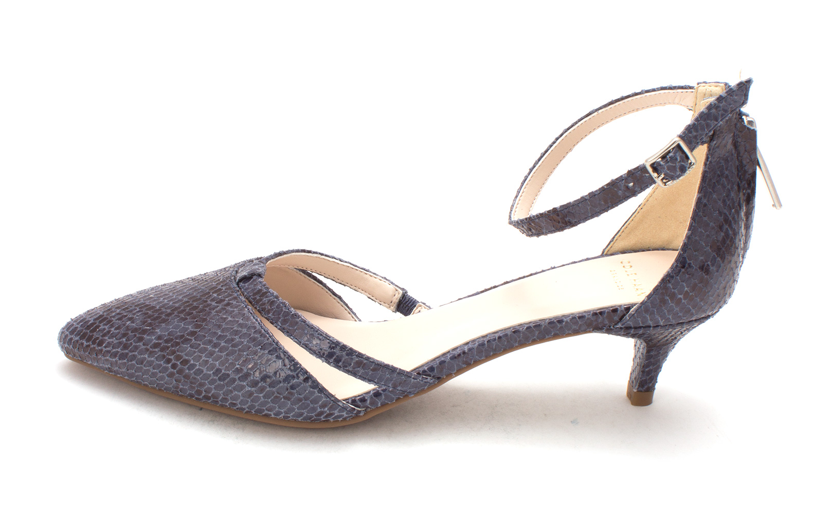 Cole Haan Womens 14A4020 Rubber Pointed Toe Ankle Strap Washed Indigo Size 6.0