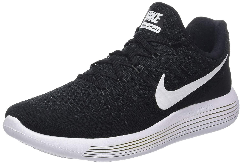 estilo de moda de 2019 tecnicas modernas ajuste clásico Nike Mens Lunarepic Low Flyknit Low Top Lace, Black/Anthracite ...