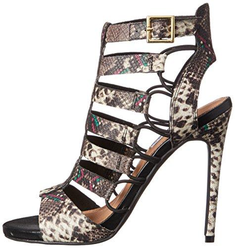 Steve Madden Womens Prefix Open Toe Ankle Strap Classic Multi Snake Size 9.0 w