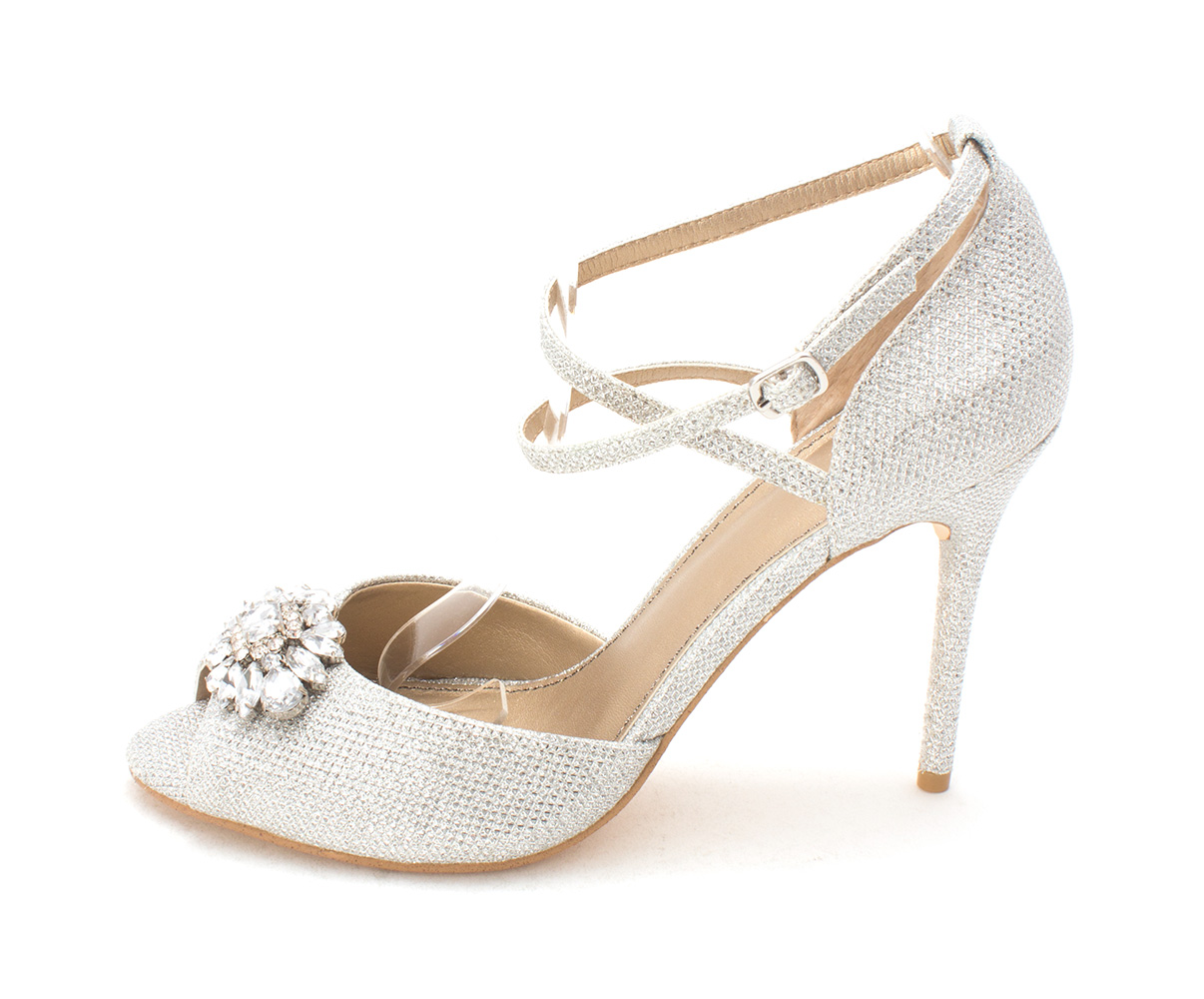 Belle Womens okra Open Toe Ankle Strap Classic Pumps silfab Size 8.0