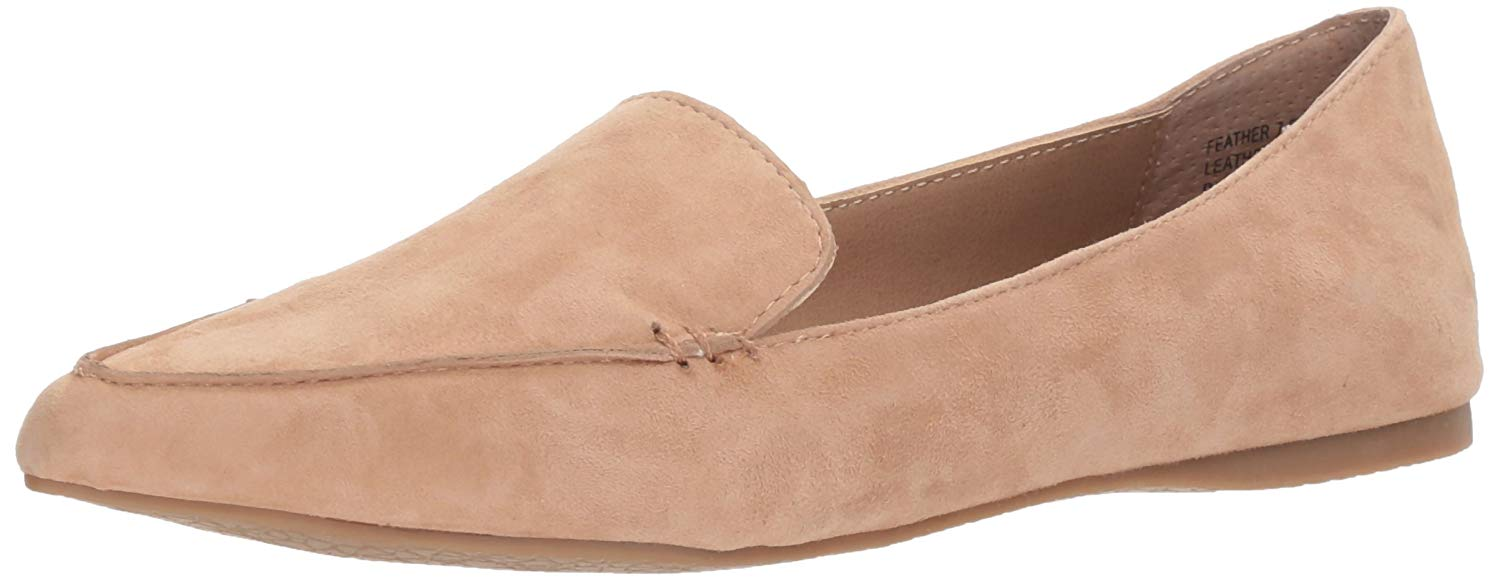 84641e2a186 Details about Steve Madden Women's Feather Loafer Flat, Camel Suede, Size  6.0 SzIV