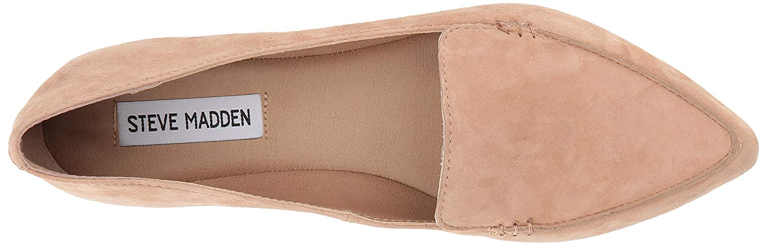 bf724e027ff Details about Steve Madden Women's Feather Loafer Flat, Camel Suede, Size  6.0 5g9o US / 4 UK