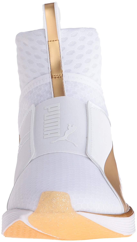 ba57bb71d9064 PUMA Womens Fierce Cross Trainer Shoe White Gold 7m 189192 01