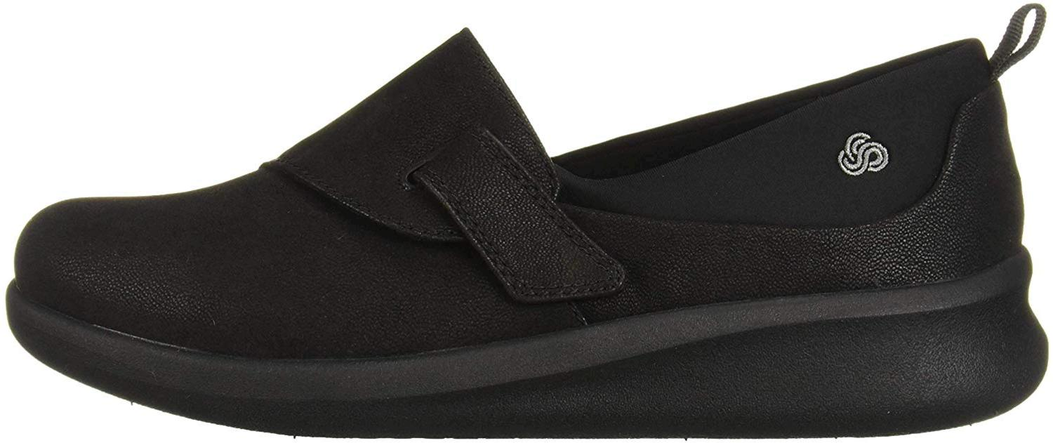 Details about Clarks Womens Sillian 2.0 Ease Leather Closed Toe Loafers, Black, Size 11.0 q6ZD