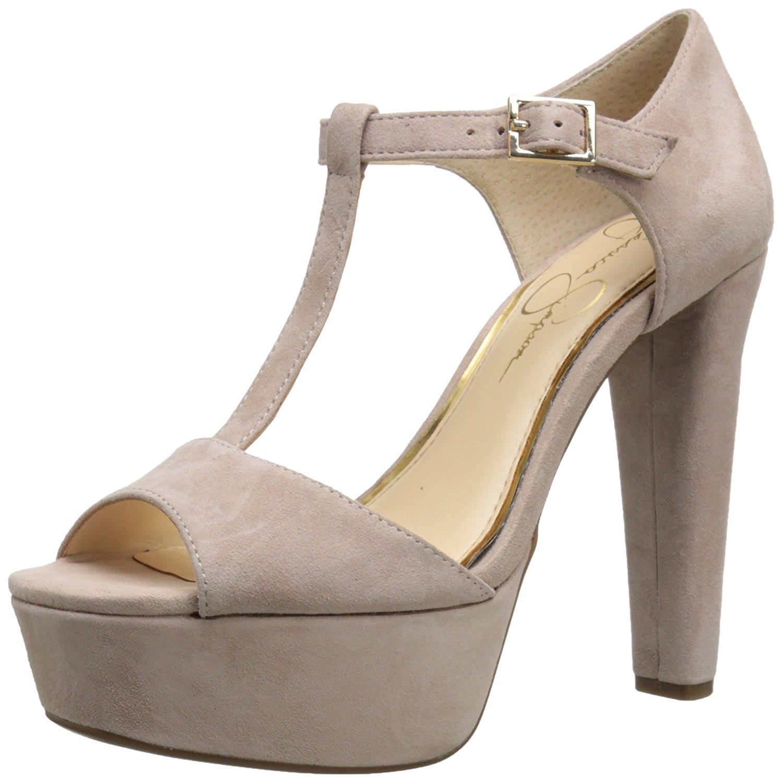 Jessica Simpson Womens ADELINAH Leather Peep Toe SlingBack Sandbar Size 10.0 b