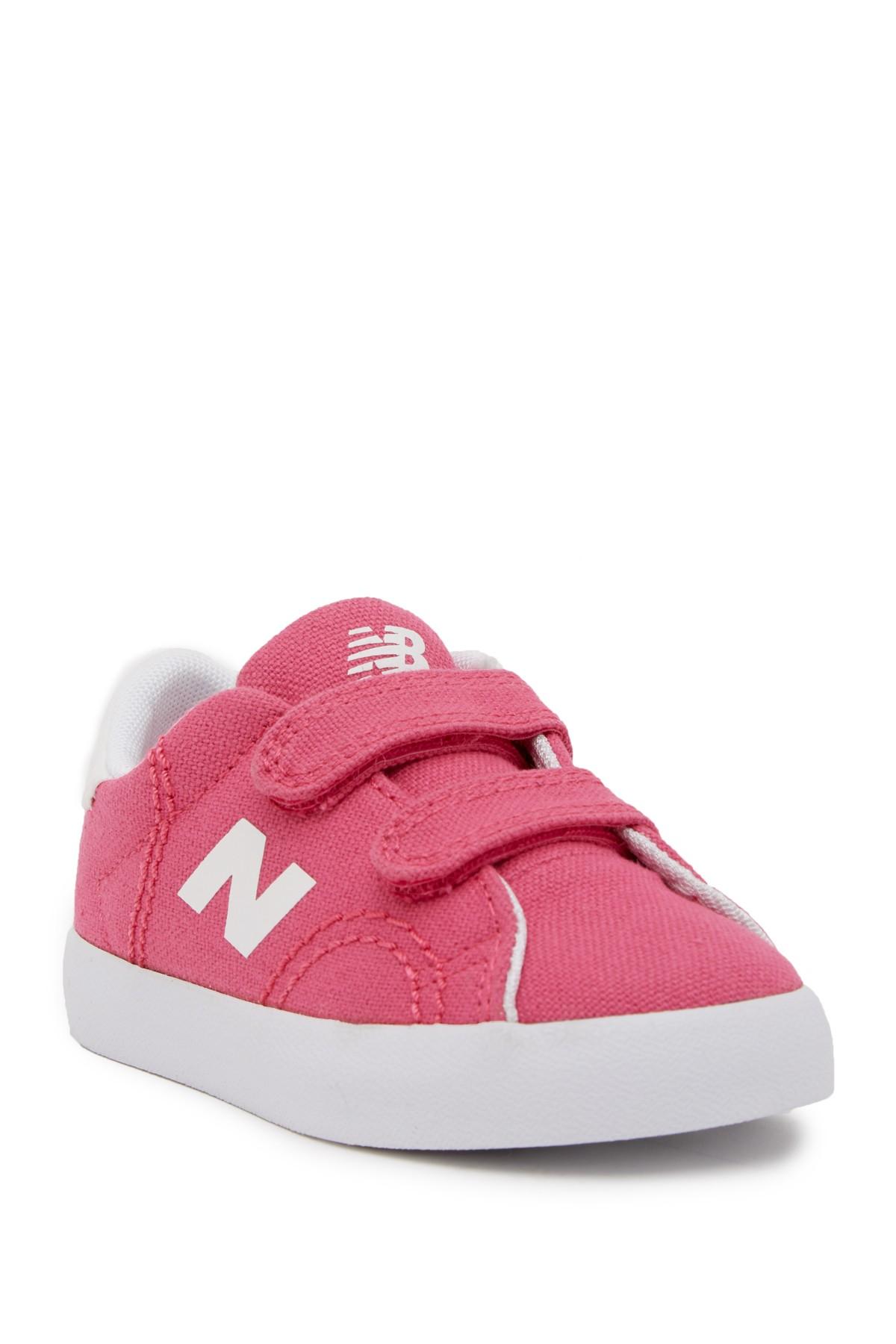 New Balance Girls KVCRTPWI Fabric Low Top Velcro Walking Pink Size 7 W TODDLER