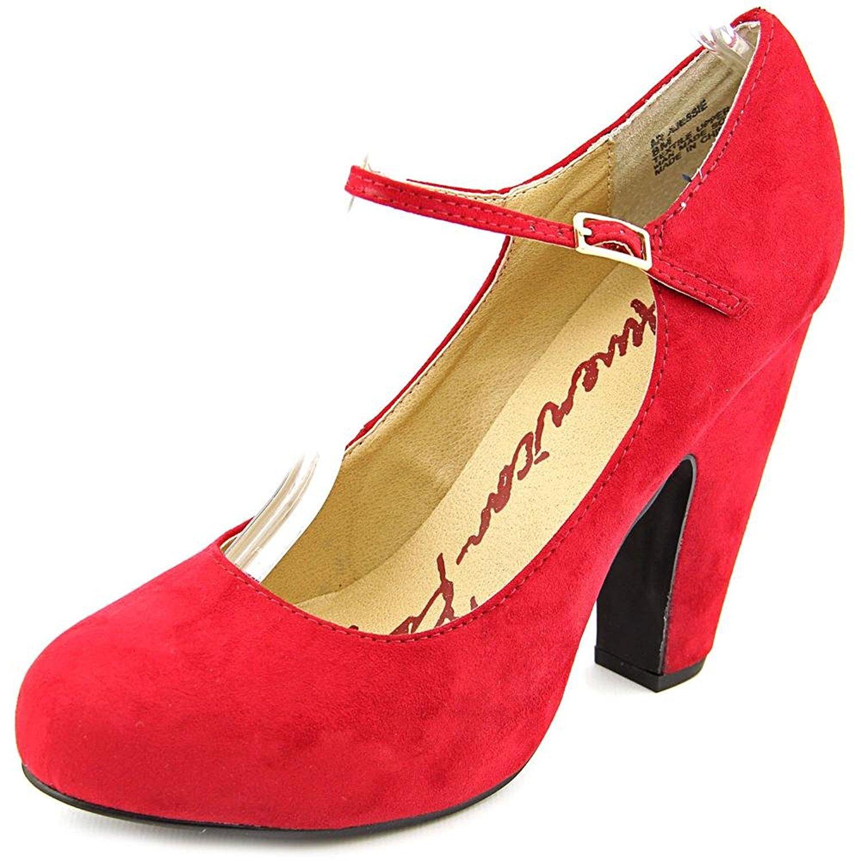 American Rag Mujeres JESSIE Punta Redondeada Correa de Tobillo Zapatos Mary Jane, Red, Talla 6