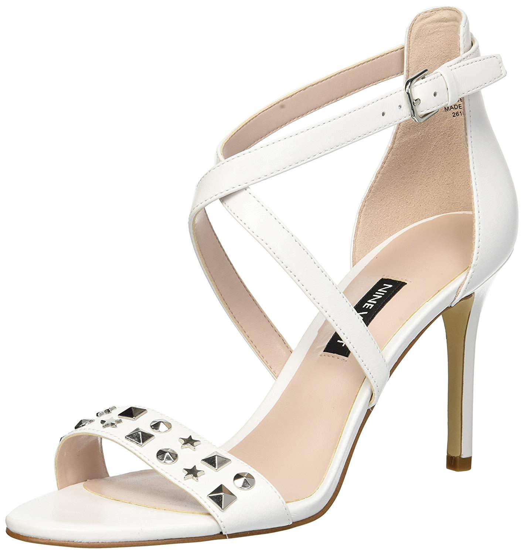 Nine West Women's Maziany Leather Heeled Sandal