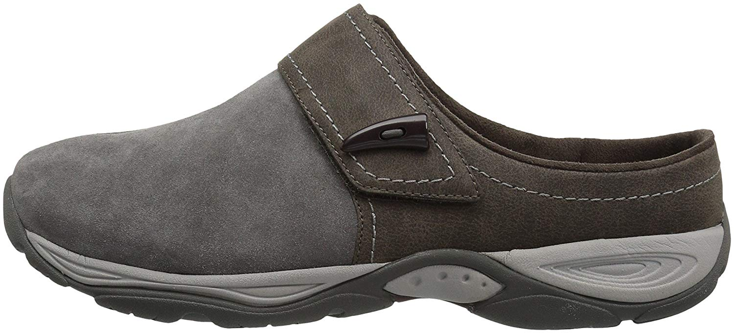 Easy Spirit Womens Eliana Suede Almond Toe Mules, Grey, Size 9.5