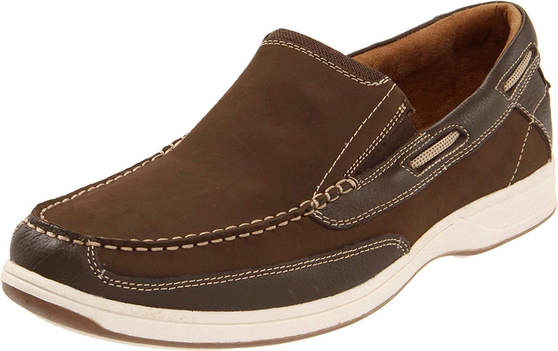 Florsheim-Homme-039-S-Lakeside-Slip-on-Chaussures-Bateau-Marron-Taille-9-5-s9Hc-US-8-5-UK