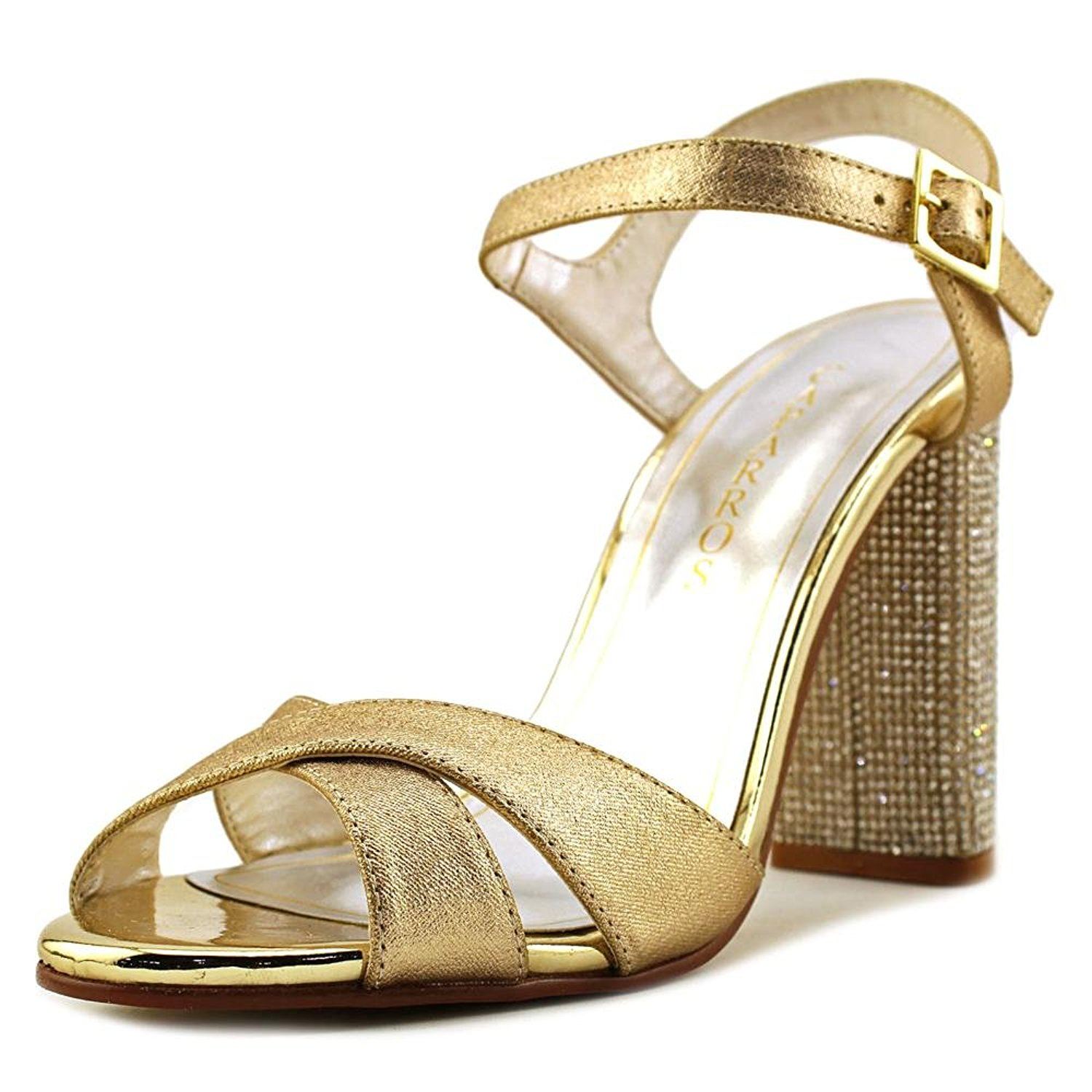Caparros Womens hayley Open Toe Special Occasion Ankle Gold Metallic Size 70