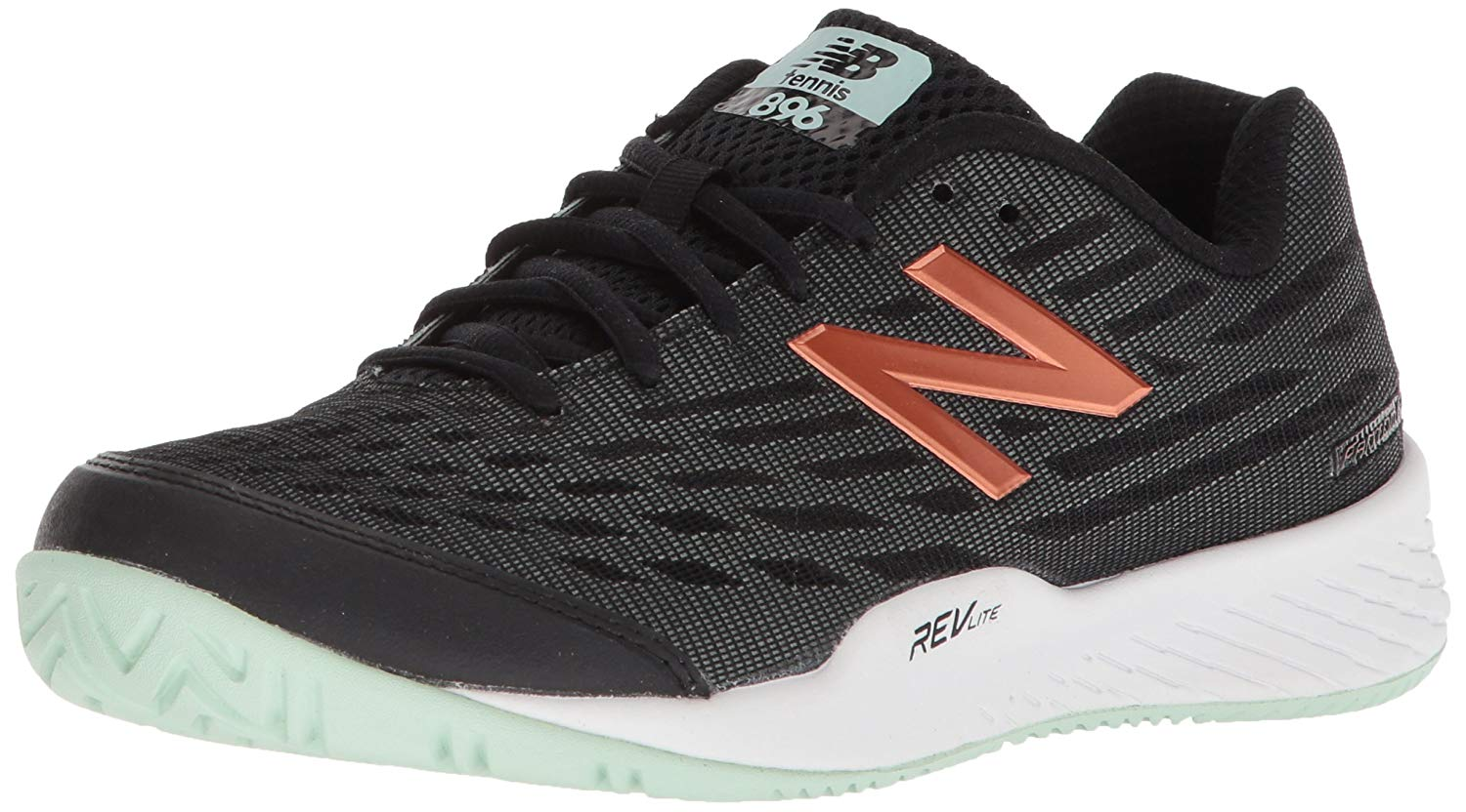 Details about New Balance Womens WCH896V2 Low Top Lace Up Tennis, BlackSeafoam, Size 5.0