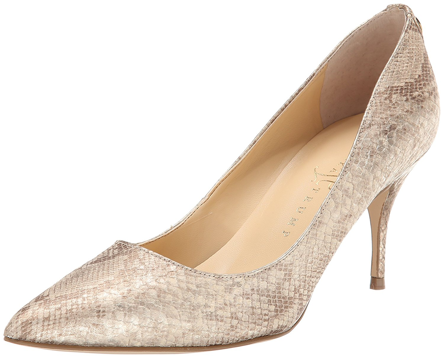 Ivanka Trump Womens Tirra3 Pointed Toe Classic Pumps Beige/Gold Size 6.5